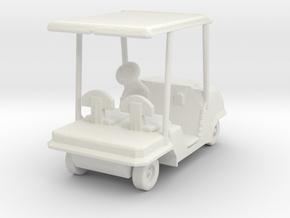 S Scale Golf Cart in White Natural Versatile Plastic