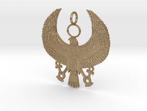 """Horus Falcon (3"""") in Polished Gold Steel"""