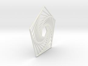 Nested Pentagons in White Natural Versatile Plastic