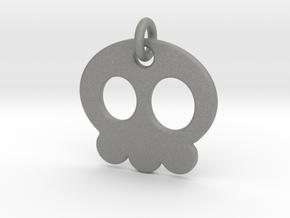 Skull Pendant in Gray Professional Plastic