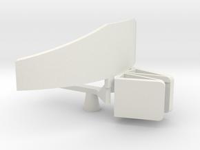 1/48 Scale AS-402 SPS-6 Radar Antenna in White Natural Versatile Plastic