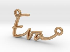 Eva Script First Name Pendant in Natural Bronze