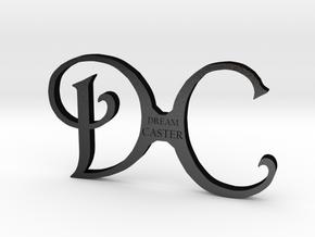 DC logo in Matte Black Steel