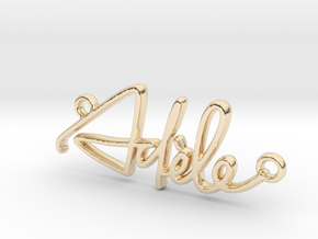 Adèle Script First Name Pendant in 14k Gold Plated Brass