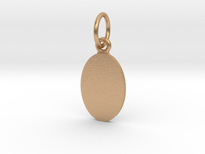 Pendant Base Oval 15 mm X 10 mm in Natural Bronze (Interlocking Parts)