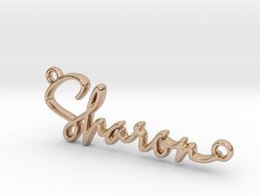 Sharon Script First Name Pendant in 14k Rose Gold
