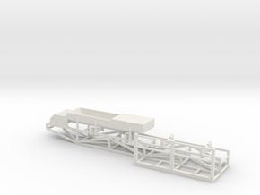 Belt Conveyor Feeder Head w/Catwalk in White Natural Versatile Plastic