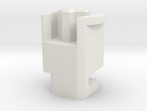 Topre to MX 6u Stabilizer Plunger (Left) in White Natural Versatile Plastic