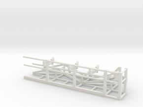 Belt Conveyor Discharge Tail w/Catwalk in White Natural Versatile Plastic