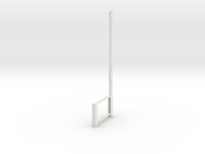 Part A Dressing room stool (for 1:12 figure) in White Natural Versatile Plastic