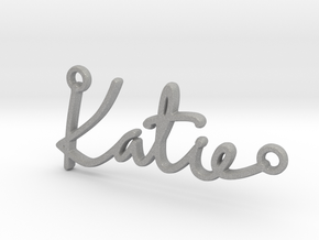 Katie Script First Name Pendant in Aluminum