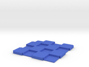 "Expandable Mini Chess Board 4x4 with 1/2"" Squares in Blue Processed Versatile Plastic"