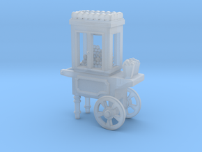 Popcorn Vendor Cart O scale in Smooth Fine Detail Plastic