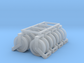 1:50 Hose reels pack of Eight.  in Smooth Fine Detail Plastic