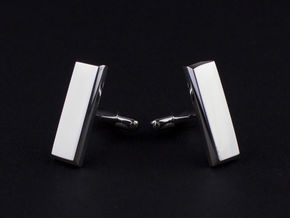 Lieutenant Bar Cufflinks in Platinum