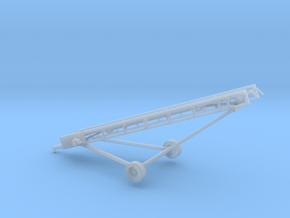 1/87th Hay Elevator conveyor with wheels hitch in Smooth Fine Detail Plastic