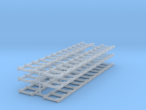 1/87th Set of Six conveyor racks in Smooth Fine Detail Plastic