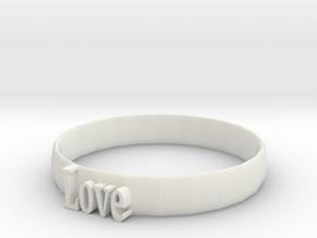 wristband in White Natural Versatile Plastic: Small