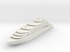 Ritz Carlton Yacht - V3 - 10 cm in White Natural Versatile Plastic