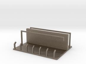Kitchen Hanger in Matte Bronzed-Silver Steel: Medium