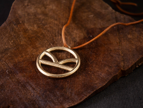 Kingsman Pendant in Polished Gold Steel