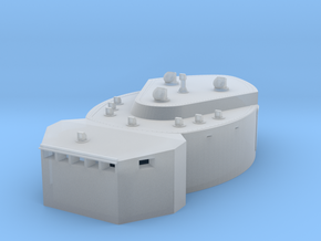 1/400 DKM Scharnhorst-fire control post fore in Smooth Fine Detail Plastic