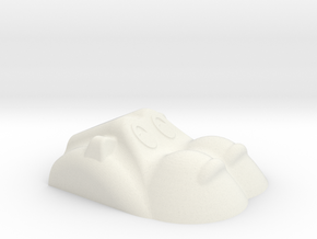 Hippopotamus-1 in White Natural Versatile Plastic