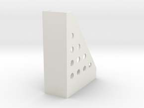 Mini Bookshelf in White Natural Versatile Plastic