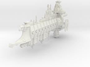 Nave Negra de la Inquisición (Vanquisher) in White Natural Versatile Plastic