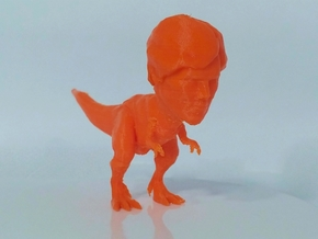 Trex with Benedict Cumberbatch's head. in White Natural Versatile Plastic