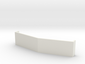 "14"" Drop Visor in White Natural Versatile Plastic"