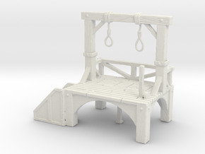 S Scale Gallows in White Natural Versatile Plastic