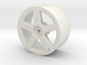Volvo R pegasus wheel in White Natural Versatile Plastic