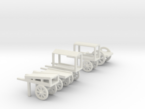 hand cart set  in White Natural Versatile Plastic