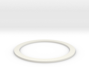 Groco_unfindable_SeaStrainer_Gasket_NinjaFlex v1 in White Natural Versatile Plastic