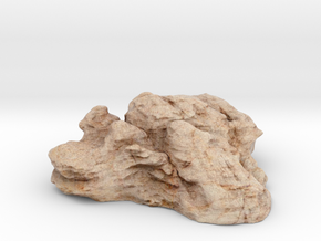 High Quality Desert Rock Terrain Piece in Natural Full Color Sandstone