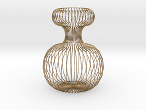 Vase Ornament in Polished Gold Steel