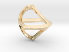 Sphericon Glatt in 14k Gold Plated Brass