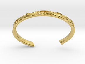 Japanese Pattern Bangle in Polished Brass