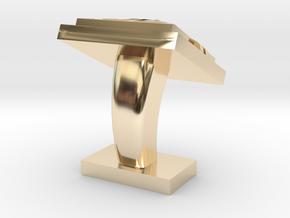 Chinese Motif Cufflink (single)  in 14k Gold Plated Brass
