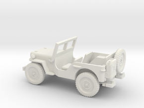 1/87 Scale MB Jeep in White Natural Versatile Plastic