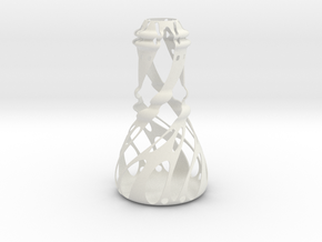 Vase-01 in White Natural Versatile Plastic