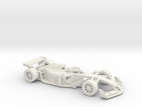 F1 2025 'Simplified' car 1/64 - with driver in White Natural Versatile Plastic