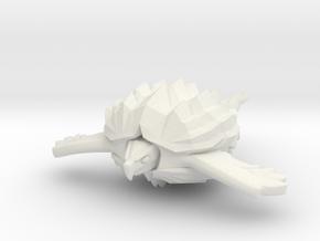 Fleetscale Turtle Space Kaiju Zappo in White Natural Versatile Plastic