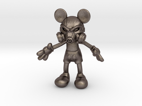 Mickey Gas Mask in Polished Bronzed-Silver Steel