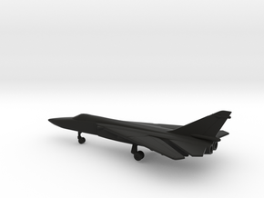 Sukhoi Su-24 Fencer (swept wings) in Black Natural Versatile Plastic: 6mm