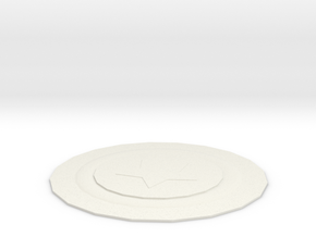 coaster in White Natural Versatile Plastic: Extra Small