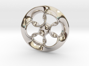 """Seven Rings""  in Rhodium Plated Brass"