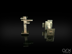 FLW Cufflinks in Polished Silver