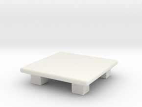 table in White Natural Versatile Plastic: Medium